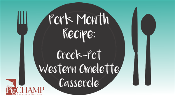 Pork Month Recipe: Crock-Pot Western Omelette Casserole