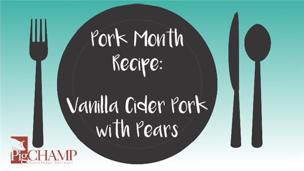 Pork Month Recipe: Vanilla Cider Pork with Pears